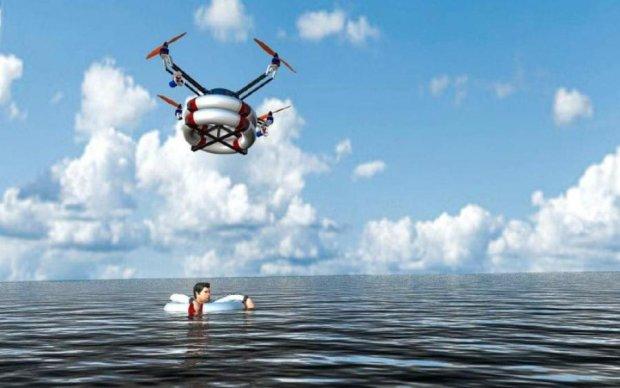 Небезопасные пляжи будет охранять дрон-спасатель