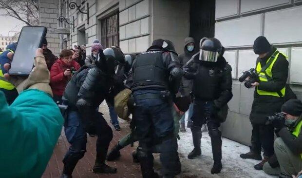 протести в Росії, скріншот з відео