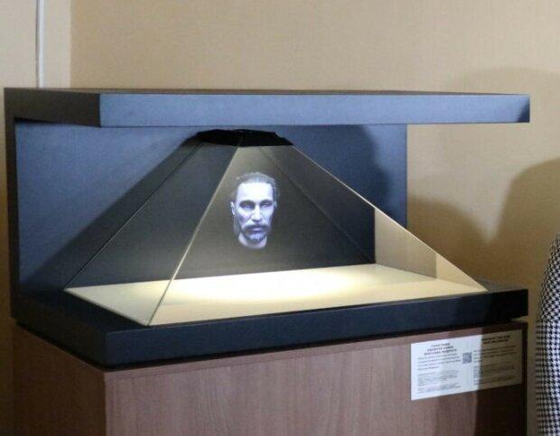 В Софийском соборе установили  3D-голограмму лица Ярослава Мудрого