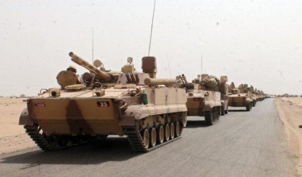 Танки Арабских Эмиратов прорываются в столицу Йемена
