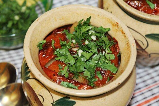 Грузинское блюдо Чинахи