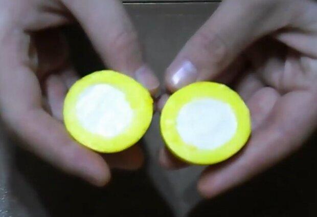 "Яйцо ""наизнанку"", кадр из видео"