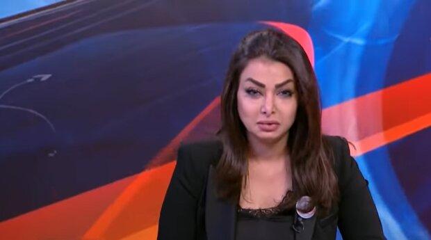 Телеведуча в прямому ефірі дізналася про вбивство, фото скріншот з youtube