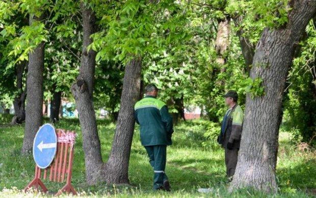 Адское быдло поиздевалось над  киевском парком