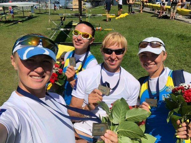 Сборная Украины завоевала первую медаль на чемпионате Европы по академической гребле