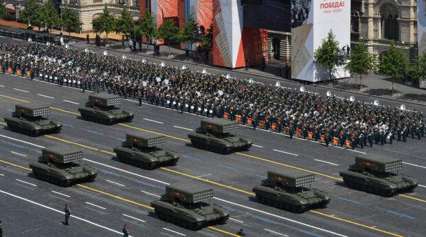 """""""парад Путина"""" в Москве, скрин с видео"""