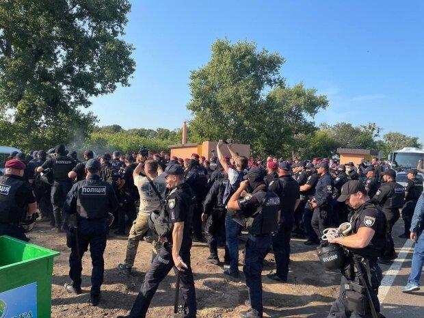 Між ветеранами та поліцією сталися сутички на Черкащині
