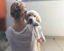 Девушка с собачкой, favim.com