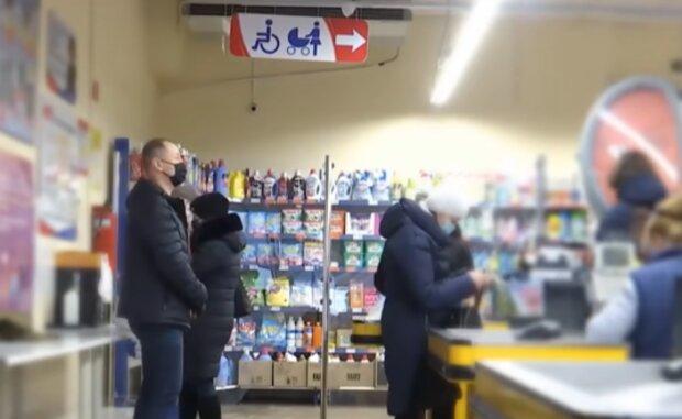 Супермаркет, кадр з відео