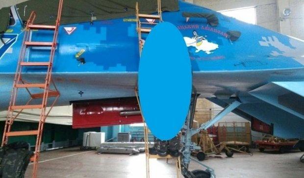 Появились первые фото восстановленного украинского истребителя Су-27