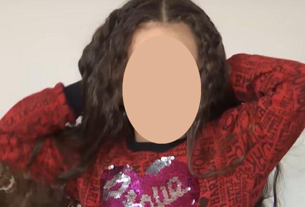 Девочка пожертвовала волосы ради благотворительности, кадр из репортажа ТСН: YouTube