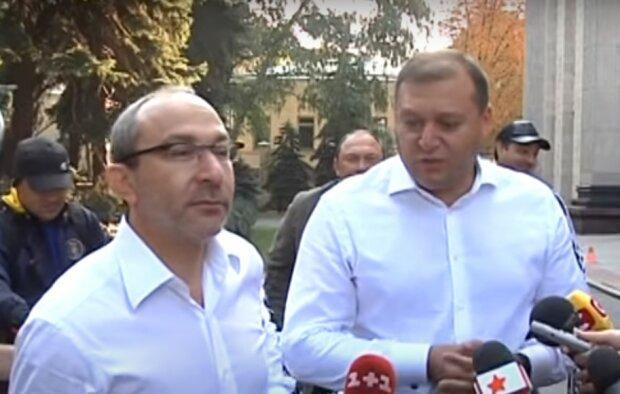 Кернес і Добкін, скріншот з відео