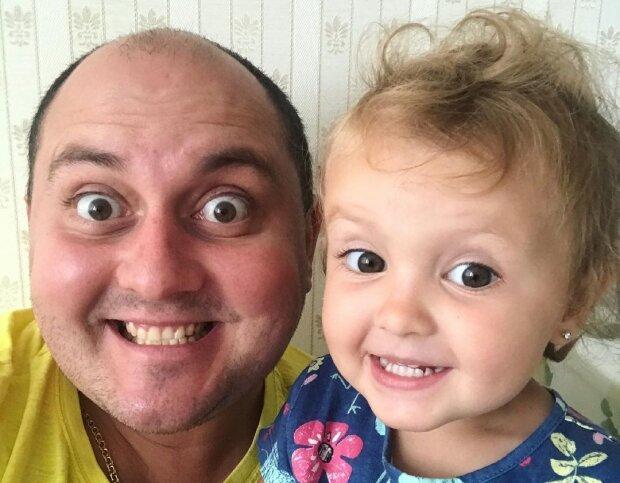Юрий Ткач с дочкой, фото с Instagram