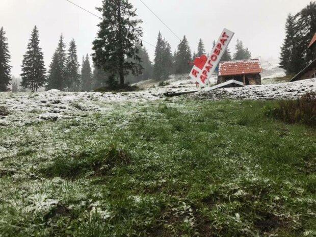 Сніг в горах, фото Чорногірський пошуково-рятувальний пост