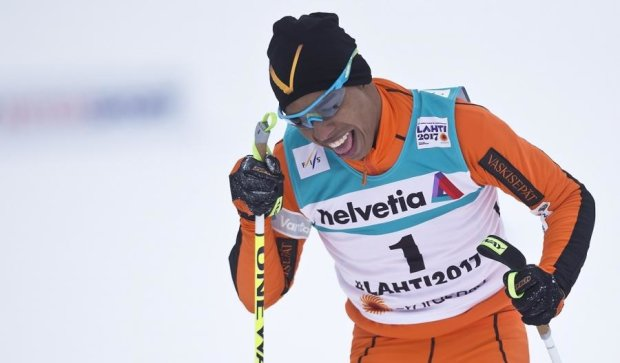 Смешное видео с венесуэльским лыжником