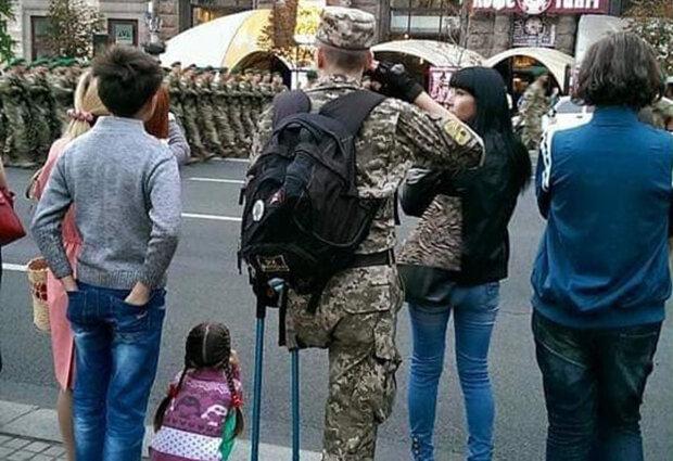 Военный, фото с фейсбук