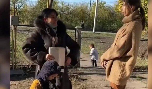 Вікторія Герасимова з дітьми / скріншот з відео