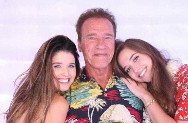 Арнольд Шварценеггер с красавицами-дочерьми, фото из открытых источников