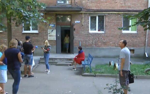 Аварійний будинок у Хмельницькому, скріншот