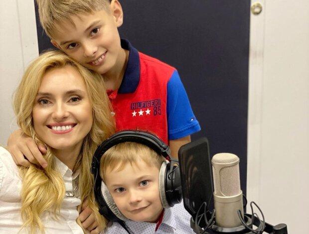 Ірина Федишин з синами, фото з Instagram