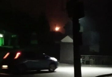 """Під Тернополем пізно вночі утворився таємничий вогонь над Лаврою: """"НЛО?"""""""
