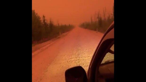 Пожары в Якутии, скриншот: Telegram