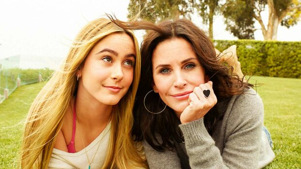 Кортни Кокс с 15-летней дочерью Коко Аркетт