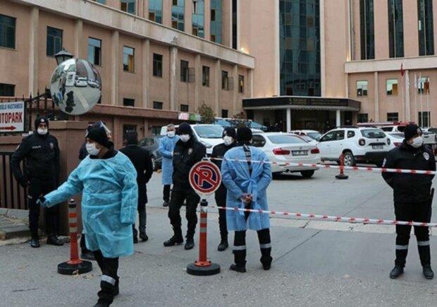 """Взрыв в больницеГазиантепа, фото: """"Adsız Günebakan/AA"""""""