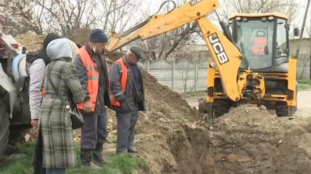 Прорив труби, фото: скріншот з відео