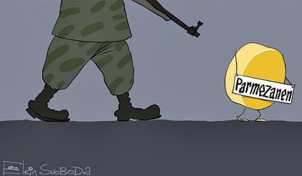 Политическая карикатура от Сергея Ёлкина: санкции и Путин