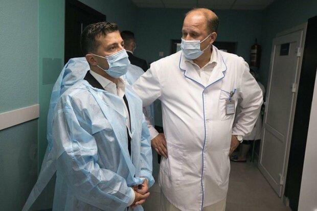 Зеленський у Бориспільській лікарні, фото з Instagram