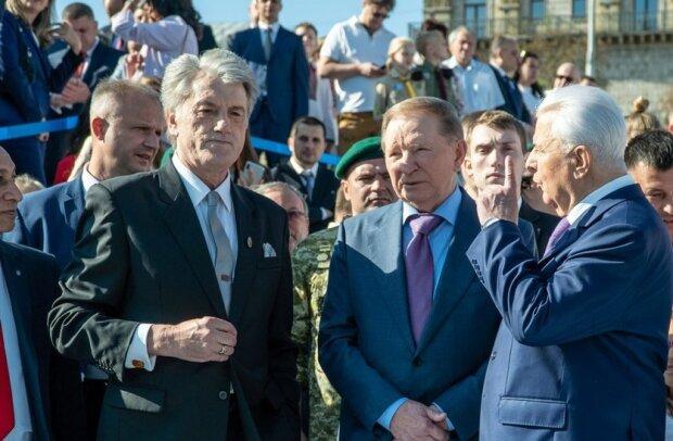 Колишні президенти України - Віктор Ющенко, Леонід Кучма та Леонід Кравчук, скріншот: YouTube