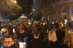 Протести в Неаполі, скріншот: YouTube