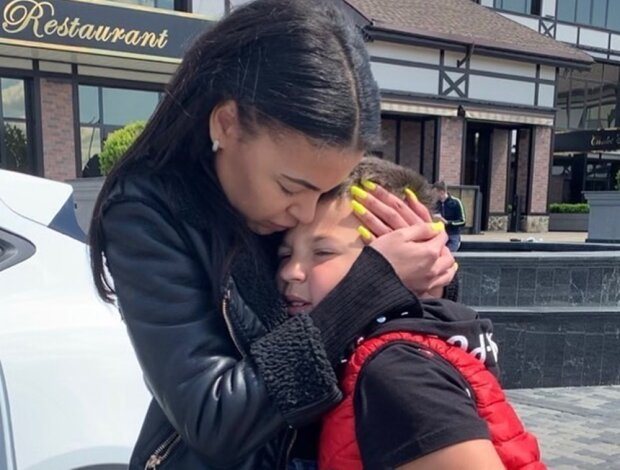 колишня дружина репера Серьоги з сином, фото Instagram