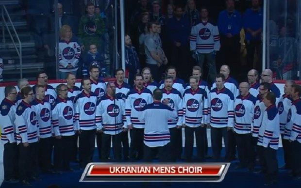 Український хор вразив глядачів перед матчем НХЛ