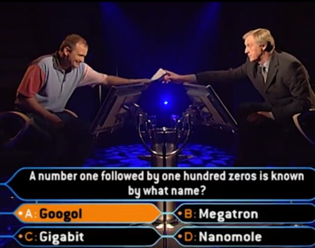 Кадр програми Who Wants To Be A Millionaire?, скрін з YouTube