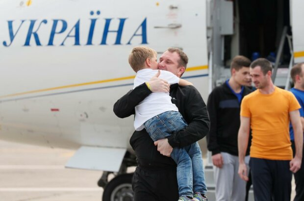 Обмен пленными, фото сайт Президента