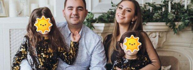 Олег с женой и дочерьми, фото: Facebook
