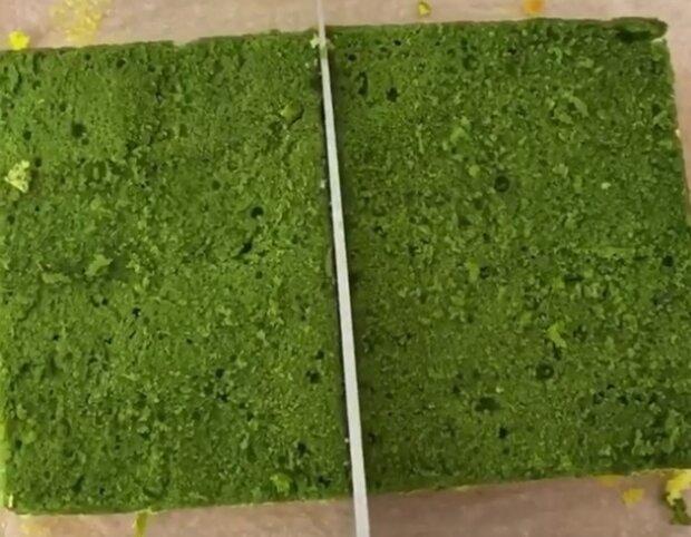 Десерт-губка, скріншот відео