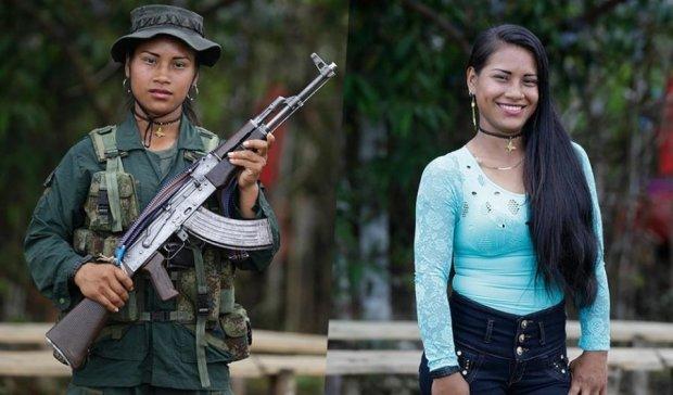 В об'єктиві: суворі колумбійські партизанки показали справжніх себе