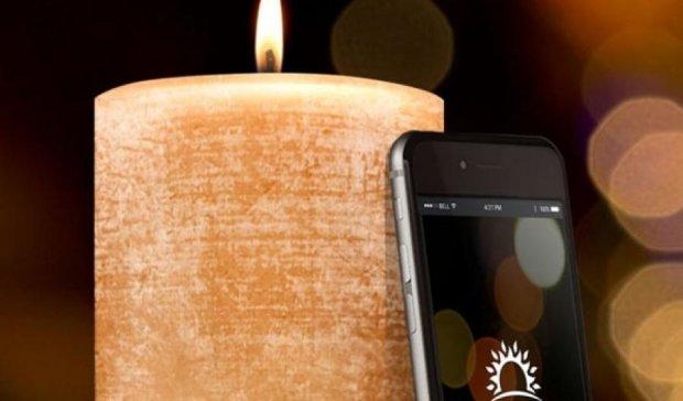 """""""Розумну"""" свічку можна запалити смартфоном"""