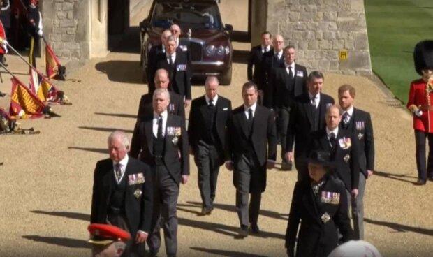 Похороны принца Филиппа / скриншот из видео