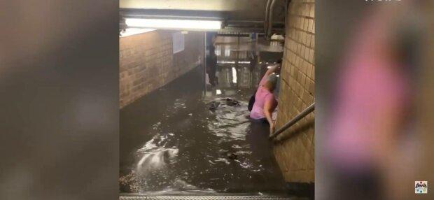 Потоп в Нью-Йорке, фото: скриншот из видео