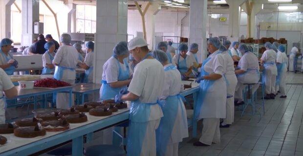 Производство тортов, скриншот: Youtube