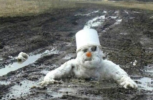 Зима минає, а сніговики страждають: аномальна погода в Україні подарувала купу яскравих емоцій: тільки подивіться на це