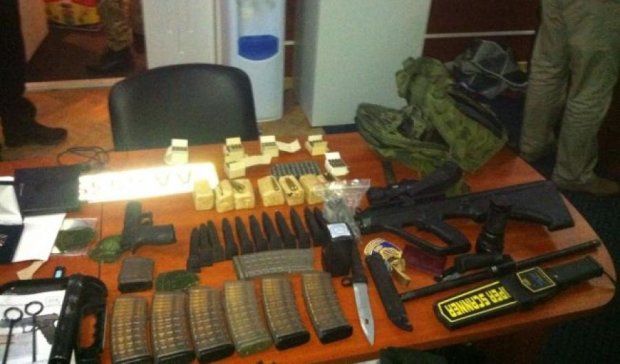 В центре Киева хранили арсенал оружия (фото)