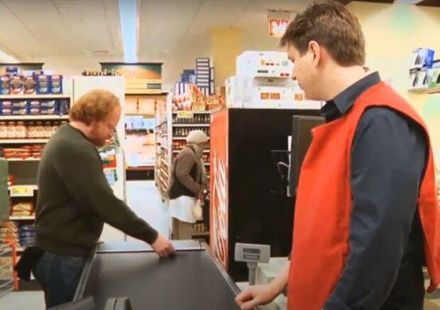 Касса в магазине, скриншот: Youtube