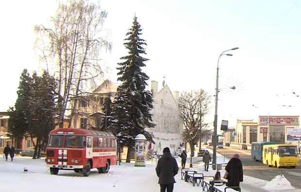 Пункт обогрева, кадр из видео