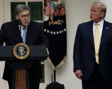 Вільям Барр і Дональд Трамп, Newsweek