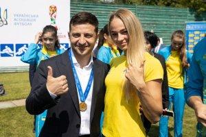Володимир Зеленський і Дарина Білодід